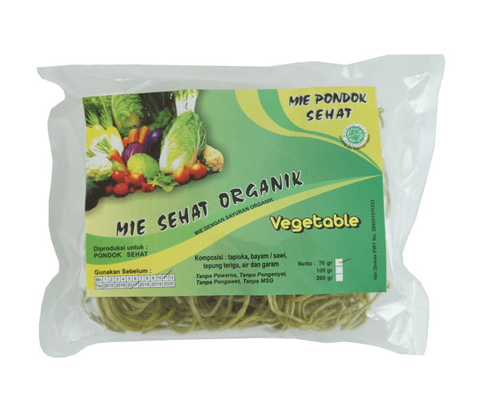 Pondok Sehat Mie Goreng Instan Veggie Mania Organik