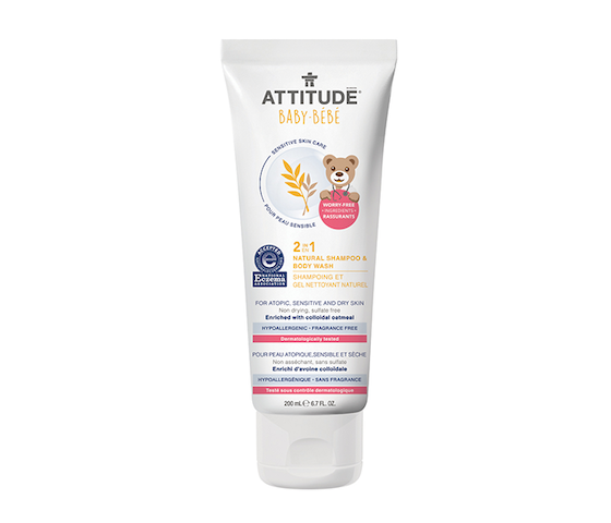 Attitude Baby-Bebe Sensitive Skin 2 in 1 Shampoo and Body Wash 200 ml