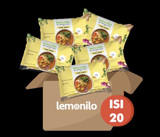Paket Lemonilo Mi Instan Kuah Rasa Kari Ayam Isi 20 Pcs