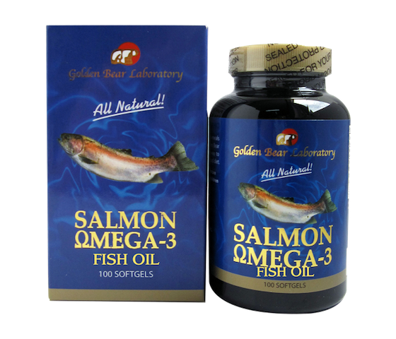 Golden Bear Laboratory All Natural Salmon Omega 3 Fish Oil