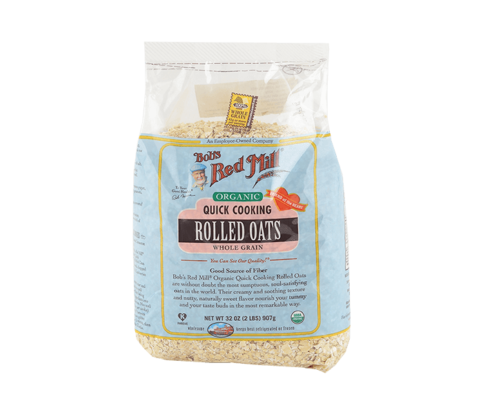 Bob's Red Mill Organic Quick Cooking Rolled Oats Whole Grain 907 gr