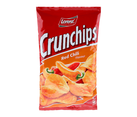 Lorenz Crunchips Red Chili Flavour