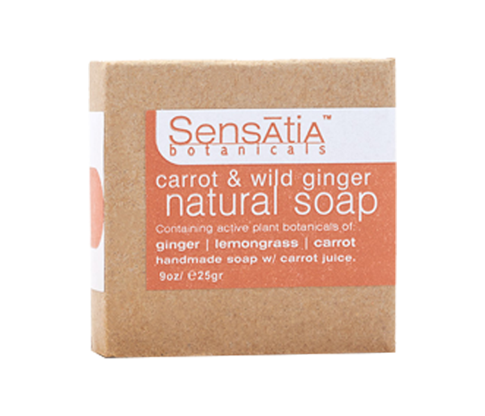 Sensatia Bar Soap Natural Carrot & Wild Ginger 25 gr