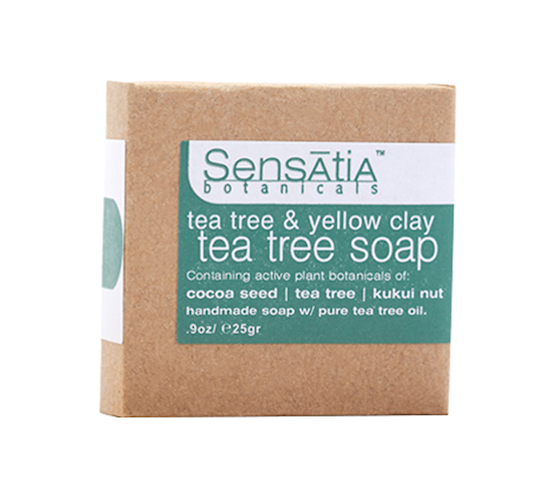 Sensatia Botanicals Tea Tree & Yellow Clay Tea Tree Soap 25 gr