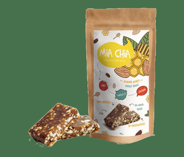 Mia Chia Energy Bar Almond & Madu