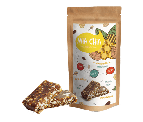 Mia Chia Energy Bar Almond & Madu