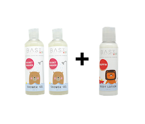 [Promo] Buy 2 Basa Kids Shower Gel Secret Garden 250 ml FREE Basa Kids Body Lotion 100 ml