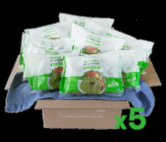 LemoniloBOX Paket Lemonilo Mie Goreng Instan Alami Isi 50