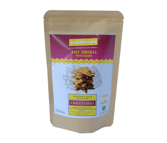 Sunkrisps Kale Tortilla Chips With Tempe Chilly Chili 40 gr