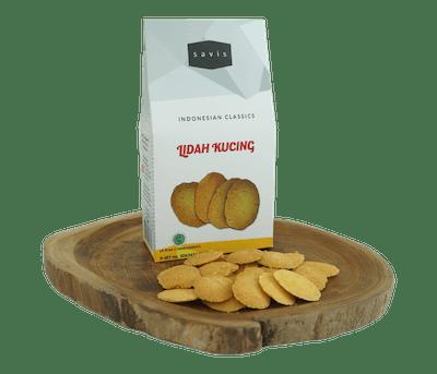 Savis Kue Kering Lidah Kucing Less Sugar
