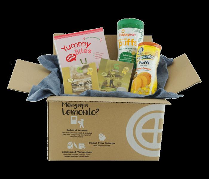 Jual LemoniloBox Paket Makanan Pendamping ASI Si Kecil hanya di Lemonilo.com