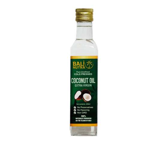 Bali Nutra Cold Pressed Organic Extra Virgin Coconut Oil 250 ml