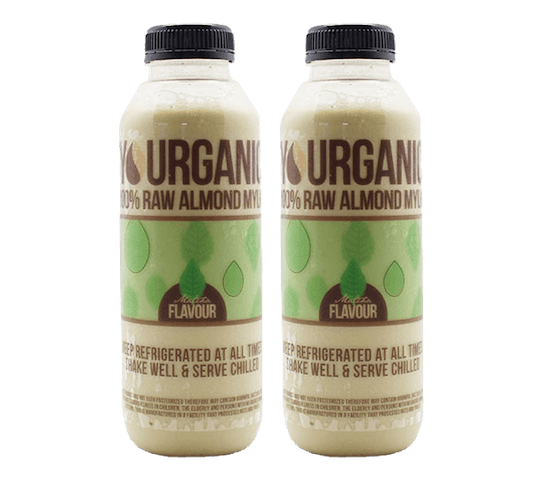 Yourganic Raw Almond Mylk Matcha 500 ml Pack of 2
