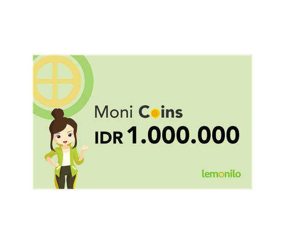 Top Up Moni Coins IDR 1.000.000