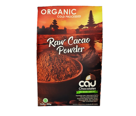 Cau Chocolates Organic Cold-Pressed Raw Cacao Powder 200 gr