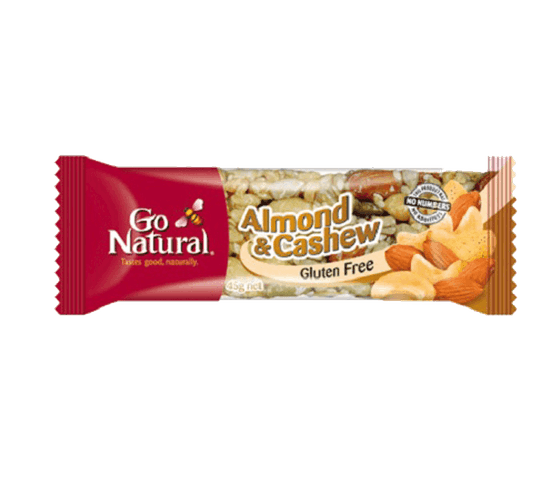 Go Natural Bar Kacang Mede Almond Bebas Gluten