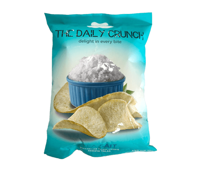 The Daily Crunch Keripik Talas Garam Laut 35 gr
