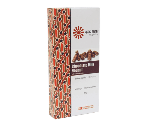 Marguerite Chocolate Milk Almond Nougat 125 gr