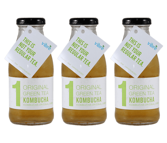 Vibre Original Green Tea Kombucha Pack of 3