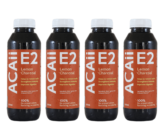 Acaii Lemon Charcoal Water Pack of 4
