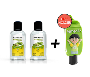 Beli 2 Hand Sanitizer Naturizer Lemongrass Gel 50 ml GRATIS 1 Holder