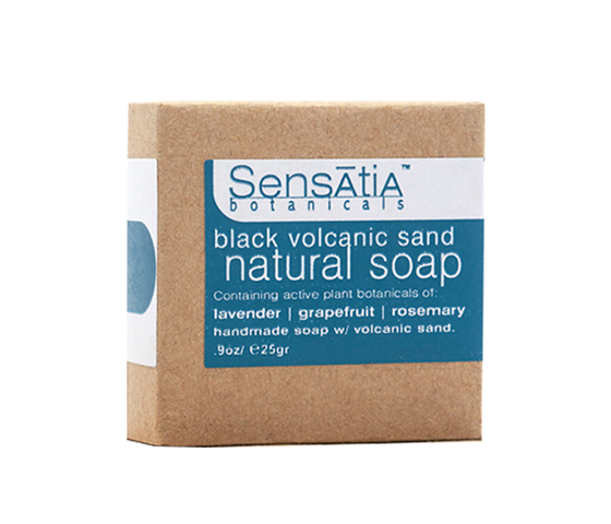 Sensatia Botanicals Black Volcanic Sand Natural Soap 25 gr
