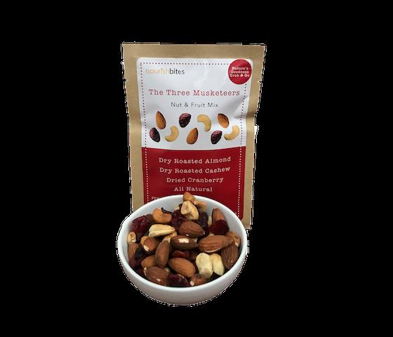 [Flash Sale] Nourish Bites The Three Musketeers Nut & Fruit Mix 35 gr
