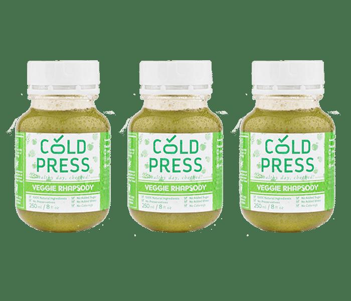 Jual Cold Press Veggie Rhapsody Daily Juice Pack of 3 hanya di Lemonilo.com