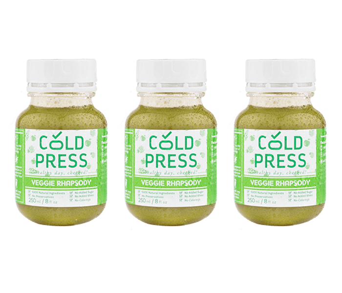 Cold Press Veggie Rhapsody Daily Juice Pack of 3