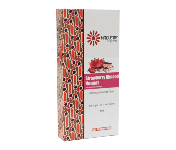 Marguerite Strawberry Almond Nougat 125 gr