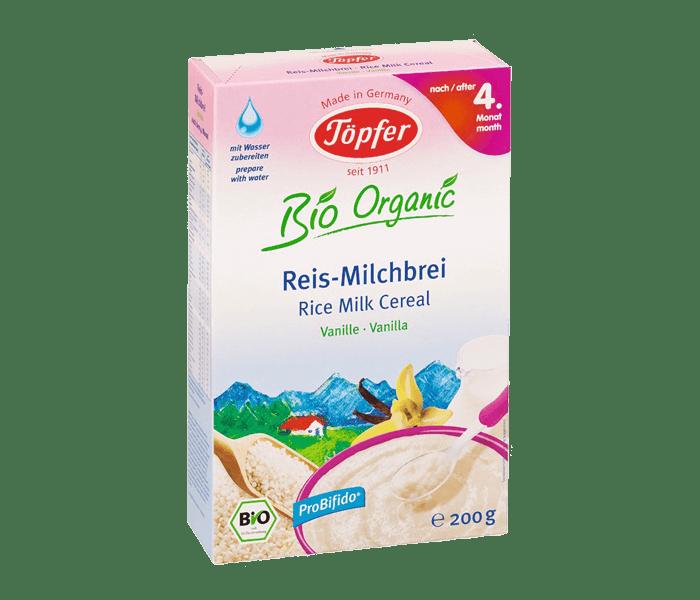 Topfer Bio Organic Sereal Susu & Beras Vanila 4 Bulan +