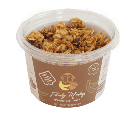 Trim Eats Funky Monkey Overnight Oats