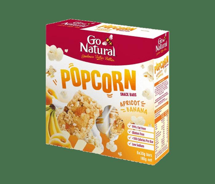 Go Natural Bar Popcorn Aprikot Pisang (Box)