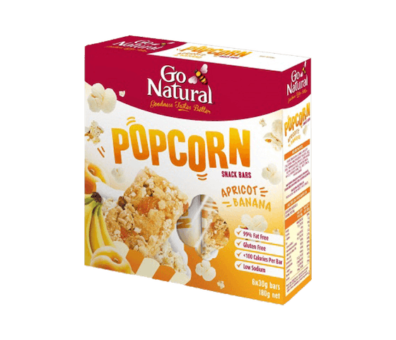 Go Natural Bar Popcorn Aprikot Pisang (Box)