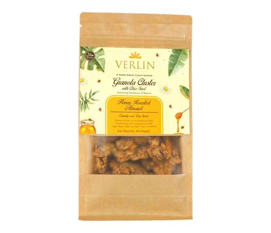 Verlin Honey Roasted Almond Granola Cluster with Chia Seed