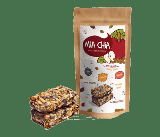 Mia Chia Energy Bar Apel & Kismis