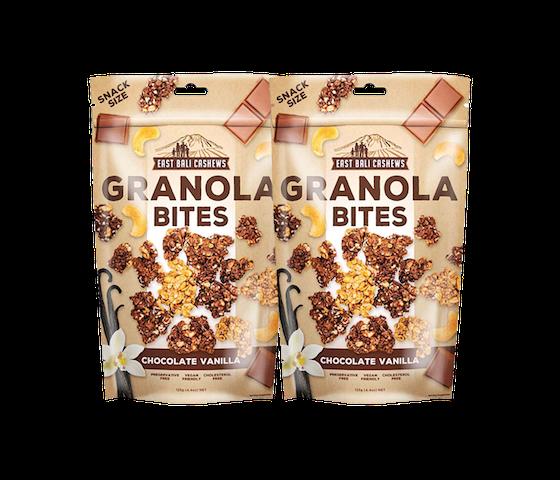 [Special Price] Buy 2 East Bali Cashews Granola Bites Cokelat Vanila 125 gr