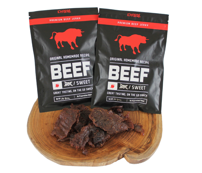 Charqi Jerky Sweet Flavor Pack of 2