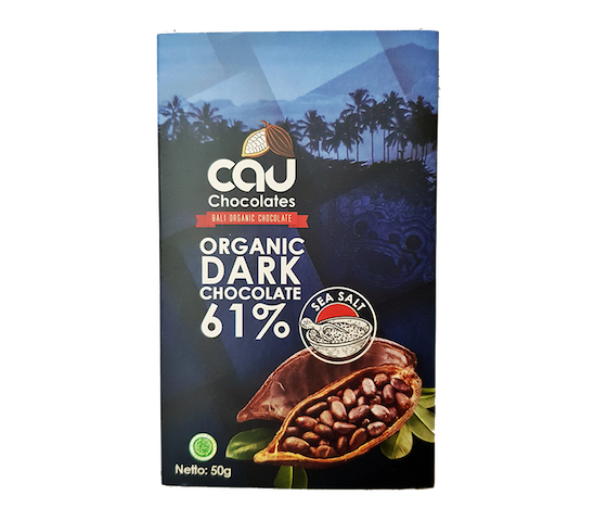 Cau Chocolates Organic Dark Chocolate 61% Sea Salt 50 gr
