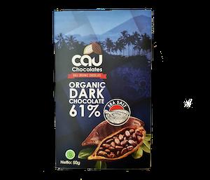 Cau Chocolates Organic Dark Chocolate 61% Sea Salt 50 gr