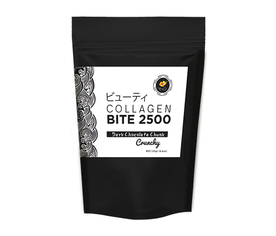 The Beauty Bites Collagen Bites 2500 Dark Chocolate Chunk 110 gr