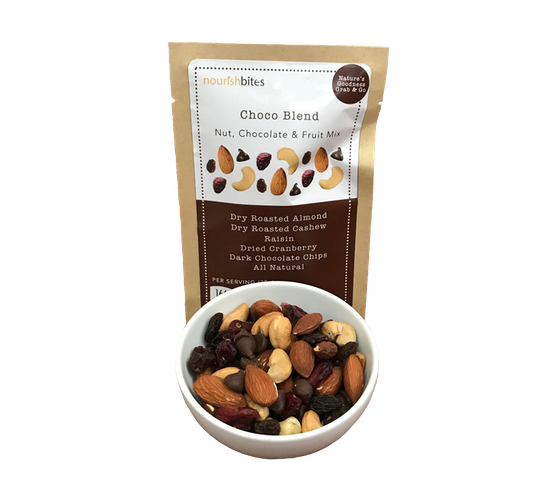Nourish Bites Choco Blend Nut, Chocolate, & Fruit Mix 35 gr