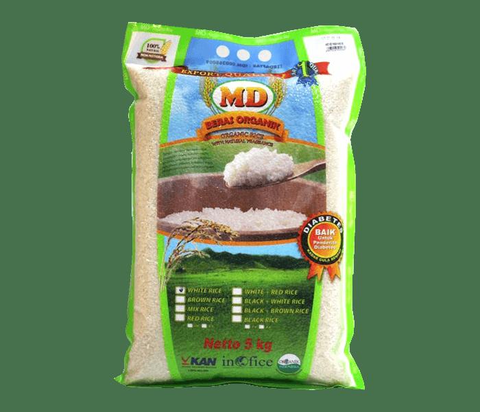 MD Beras Putih Pandan Wangi Organik 5 kg