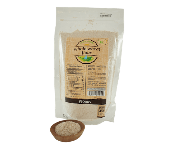 Trio Tepung Gandum Whole Wheat Organik 450 gr