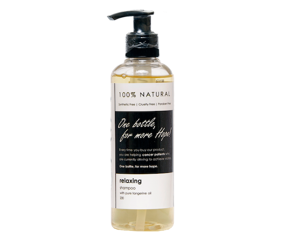 Ava Natural Relaxing Shampoo With Pure Tangerine Oil