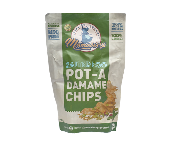 Mamaberry Salted Egg Pot A-Damame Chips 130 gr
