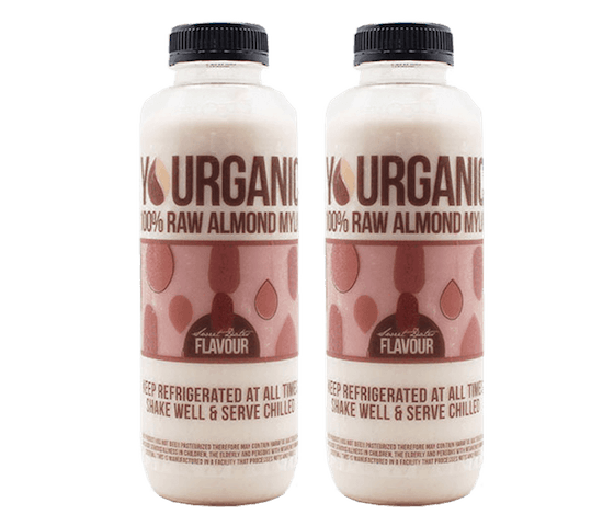 Yourganic Raw Almond Mylk Sweet Dates 500 ml Pack of 2