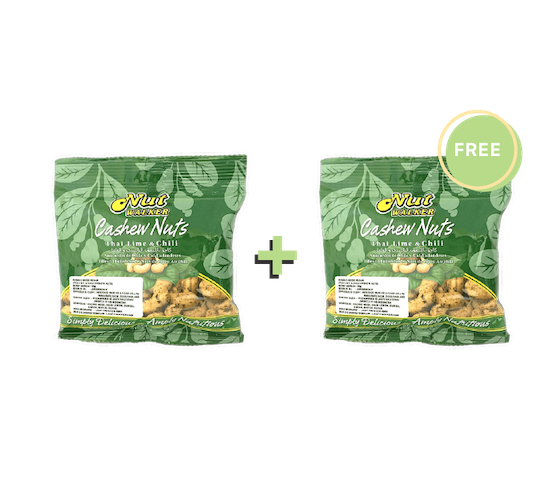 [Promo] Buy 1 Get 1 Nut Walker Cashew Nuts Thai Lime & Chili 35 gr
