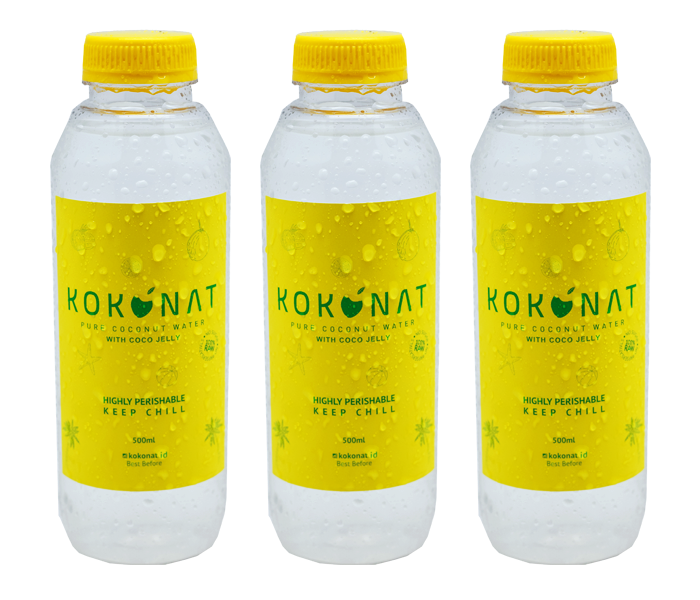 Kokonat Pure Coconut Water with Coco Jelly Pack of 3