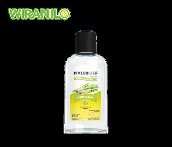 Hand Sanitizer Naturizer Lemongrass Gel 50 ml - Wiranilo